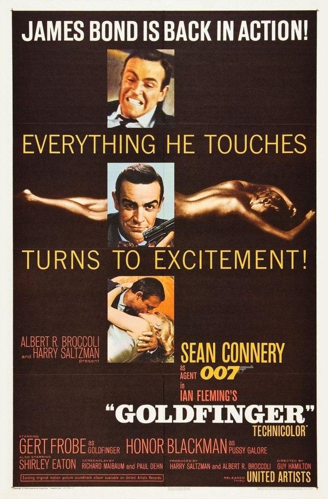 """Poster de """"Goldfinger"""" para el mercado norteamericano."""