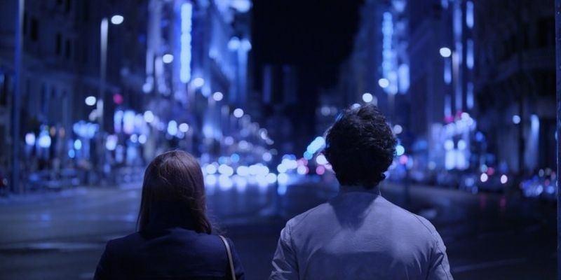 Garrido y Pereira: embriagados por el romance de la noche.