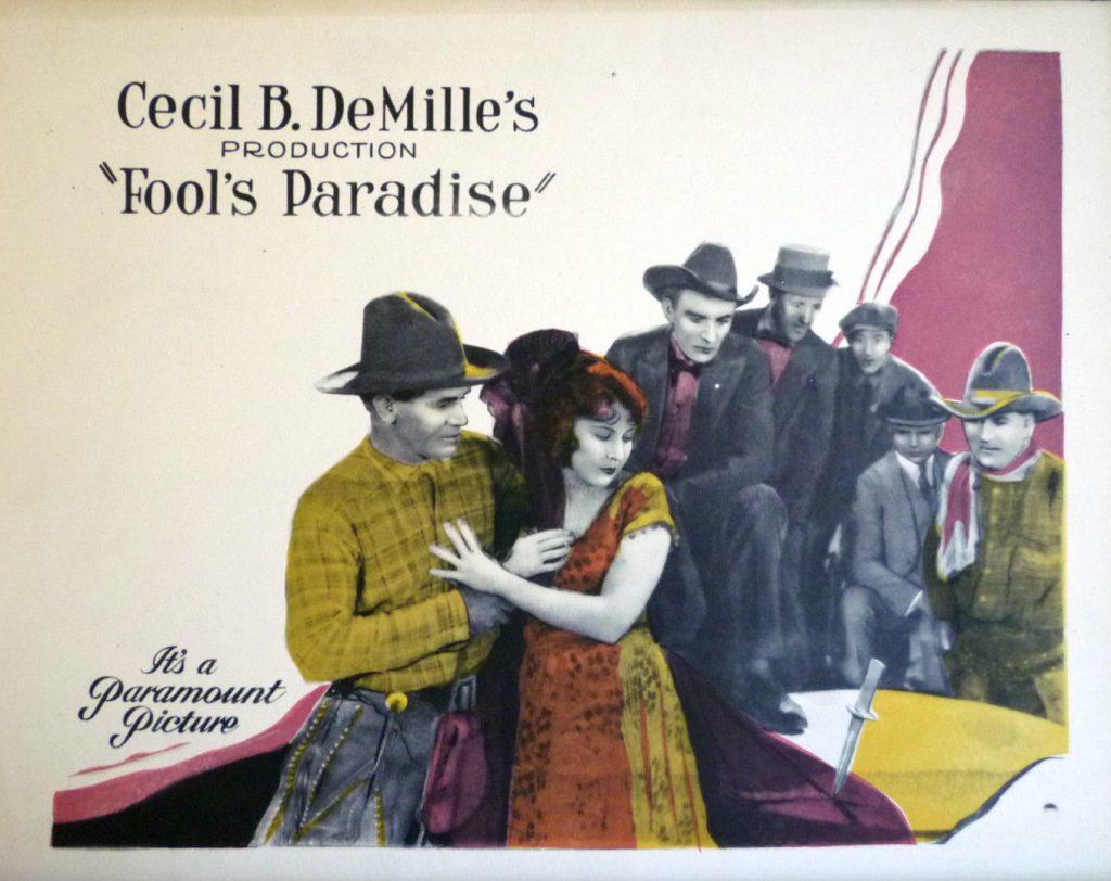 """tarjeta de lobby original de """"Fool's Paradise"""""""